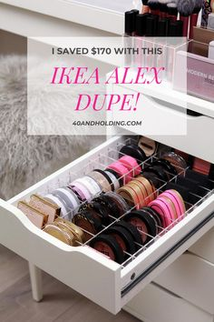 Looking for a dupe for the Ikea Alex 9 Drawer for Makeup Storage? I saved over $170 with this dupe! Don't buy anything until you read my review! Makeup Storage, Makeup Organization, Makeup Tips To Look Younger, Makeup Over 40, Beauty Giveaway, Best Makeup Products, Body Products, Ikea Alex, White Drawers