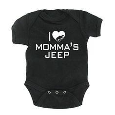 I Love Momma's Jeep Wrangler Baby Onesie
