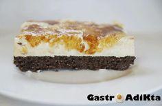 GastroAdiKta: Mousse de crema catalana sobre brownie