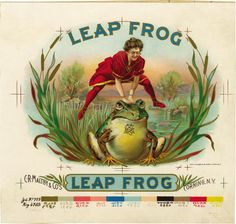 Leap+Frog+Cigar+Inner+Label+Proof+by+Harris+NY.jpg 450×429 pixels