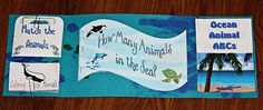 Ocean Animals ~ Lapbook and Printables - ABC Ocean Animals * Match the Animals * Ocean Animals Coloring Pages * Number Counting *