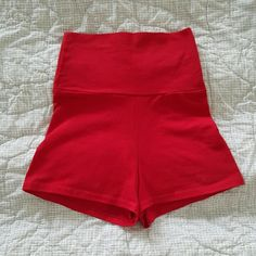 America Apparel High-waisted Red Shorts American Apparel new, never used High-waisted shorts Super cute!! American Apparel Shorts