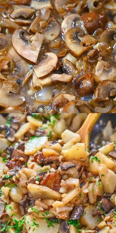 Try these delightful and very filling Potatoes with Mushrooms cooked to perfection in creamy coconut milk. Pasta Salad Recipes, Veggie Recipes, Chicken Recipes, Vegetarian Recipes, Cooking Recipes, Healthy Recipes, Vegetarian Italian, Venison Recipes, Cooking Bacon