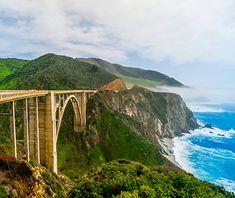 America's Most Scenic Waterside Drives: California Route 1, Santa Cruz to Pismo Beach.
