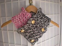 Crochet cowl - Unique, Couture, beautiful, fun gold button. $55.00, via Etsy.