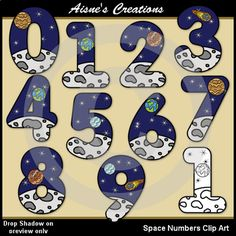 This Product Is In The Math Fun Themes 1 Growing Bundle This Pack Contains A Set Of Color Space Number Graphics 0 9 And Matching Clip Art Fun Math Math Bundle