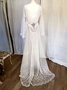 Unique whimsical wedding dressairyfrench by RAWRAGSbyPK on Etsy
