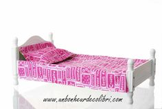 victorian-doll-bed-with-hot-pink-and-green-apple-linens