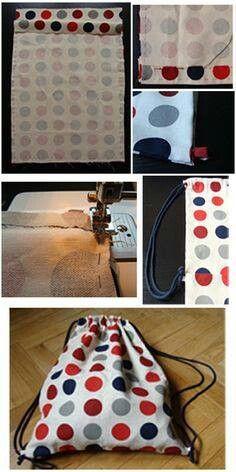 Diy bags 475200198175363884 - Tutorial de sacolinha: Source by mburnay Sewing Hacks, Sewing Tutorials, Sewing Patterns, Fabric Crafts, Sewing Crafts, Sewing Projects, Diy Crafts, Diy Sac, Diy Bags Purses