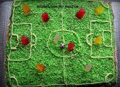 Soccer area birthday cake! || Boisko piłkarskie - tort urodzinowy