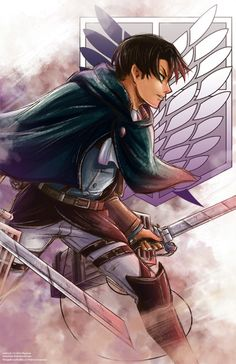 Attack on Titan - Shingeki no Kyojin- Rivai Heichou (Captain Levi) Manga Anime, Anime Guys, Anime Art, Attack On Titan Levi, Levi X Eren, Image Zelda, Cosplay Meme, Accel World, Estilo Anime