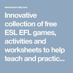 Innovative collection of free ESL EFL games, activities and worksheets to help teach and practice the zero and first conditional tense.