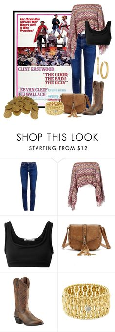 """The Good, the Bad and the Ugly"" by crazy4orcas ❤ liked on Polyvore featuring AG Adriano Goldschmied, Missoni, T By Alexander Wang, Ariat and Hulchi Belluni"