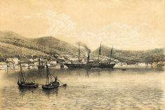 Η Ιθάκη περί τα μέσα της δεκαετίας του 1870. / The island of Ithaca in the mid-1870's.