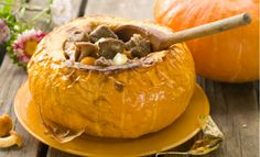 How To Cook and Reheat Stew in a Pumpkin Shell