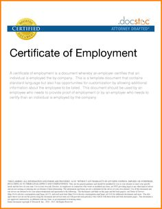 A letter of certification is a letter that is used to verify simple sample certificate employment farmer resume letter example yelopaper Choice Image