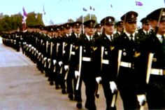 A parade on a sunny day at the Canadian Forces Base in Lahr, West Germany