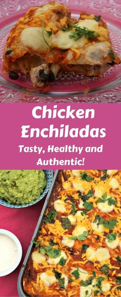 These homemade Chicken Enchiladas taste heavenly! Try them with friends and family!