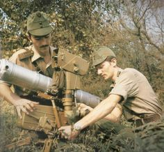 Hungarian People's Army officers preparing a Konkurs wire-guided anti-tank missile.