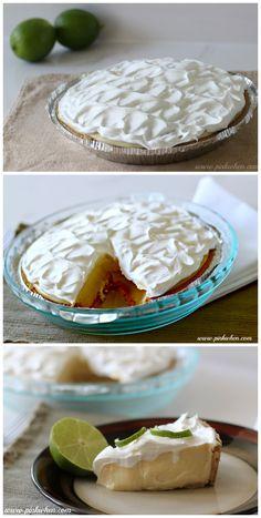 Delicious Key Lime Pie Recipe via PinkWhen.com