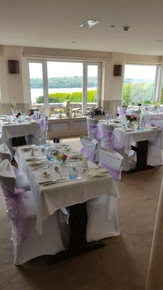 All dressed up and ready light lavender tines add femininity to this rustic wedding