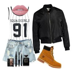 """Swag so Sexy"" by rubixfashionista on Polyvore featuring Boohoo, Chicnova Fashion, Sans Souci, Timberland, Lime Crime, Guerlain, MAKE UP FOR EVER and Givenchy"
