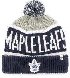 new arrival 967dc 30ed0 Toronto Maple Leafs 47 Brand Calgary Cuff Knit NHL Bobble Hat
