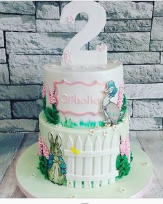 Beautiful Beatrix Potter cake by @twisted_sugar_cakery. See the best Edible Image Designs posted daily at http://topperoo.com/edible-image-designs/