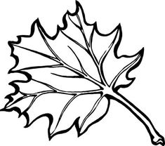 bird  houses to color | Maple Fall Leaf Coloring Page | Kids Play Color