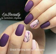 - nails art for spring & nail art. Video nail art - – nails art for spring & nail art. Spring Nail Art, Nail Designs Spring, Cool Nail Designs, Acrylic Nail Designs, Purple Nail Designs, Flower Nail Designs, Matte Nails, Gel Nails, Acrylic Nails