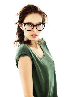 Emily DiDonato // wish I looked this good when I have my glasses on with an oversized tshirt and messy hair....