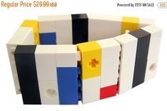 ON SALE Geek chic Primary Colors bracelet  by MademoiselleAlma #MademoiselleAlma #LEGO #ETSY