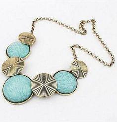 Round Collar Statement Necklace