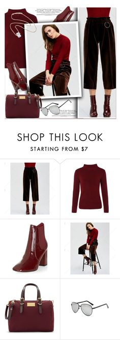 """""""Velvet leg pants"""" by paculi ❤ liked on Polyvore featuring New Look and vintage"""