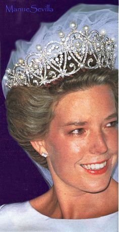 A fabulous close up, showing the detail of the Cartier Loop tiara