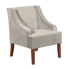 Classic Taupe Velvet Swoop Accent Chair | Pier 1 Imports