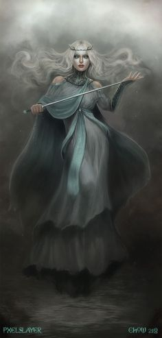 The Lady of the Lake was the foster-mother of Sir Lancelot and raised him beneath the murky waters of her Lake. She is, however, best known for her presentation to King Arthur of his magical sword Excalibur, through the intervention of the King's druidic advisor, Merlin (Myrddin) who was constantly worried that his monarch would fall in battle.