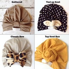 Our turban hats are classic, stylish and made of the most luxurious and comfortable fabrics. From stretchy silks, to soft cottons and even some designer fabrics, our turban hats complete any outfit an Baby Turban, Turban Hat, Turbans, Sewing For Kids, Baby Sewing, Baby Headbands, Turban Headbands, Leila, My Bebe