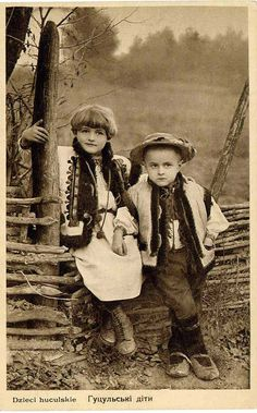 All Things Ukrainian - Vintage Photo - Hutsul Children