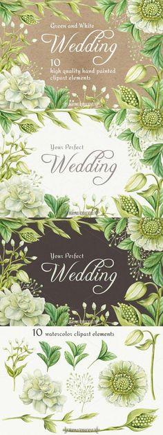 Wedding watercolor clipart elements 742864