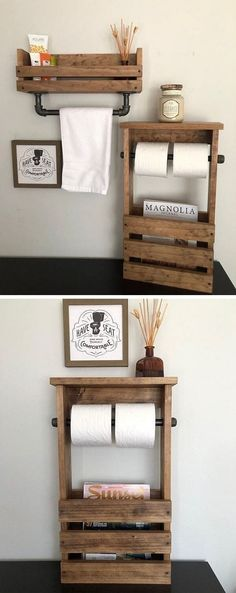 Pallet toilet paper crafts