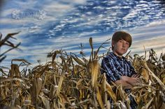 A Nebraska cornfield, a beautiful Nebraska sky and a handsome 8th grader...what could be better?