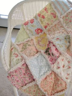 Hey, I found this really awesome Etsy listing at https://www.etsy.com/listing/166769821/sweet-baby-rag-quilt-shabby-chic-dreamy
