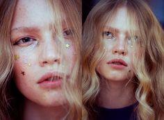 Glitter | cake mag  Photo: Linda Andersson Makeup Artist: Jessica de la Torre Hair: Annie Ankervik  Model: Engla K . elite stockholm  Lit Cosmetics . Wonderglow