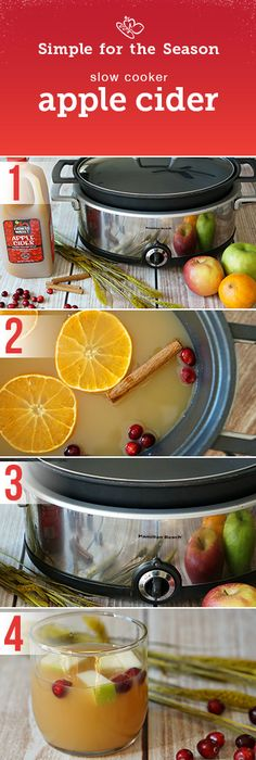 There's nothing like the aroma and taste of warm Apple Cider on cold days. Try this easy recipe.