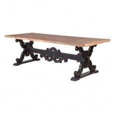Reclaimed Dining Table with Industrial Leg Design - L W from Rootwood House Industrial Style Dining Table, Reclaimed Dining Table, Furniture Dining Table, Wooden Dining Tables, Dining Room Table, Table And Chairs, Handmade Furniture, Shabby Chic Furniture, Mirrored Dressing Table Set