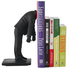 A bookend for those of us who always have our head in a book #bookends