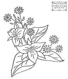 vintage embroidery patterns | free Hearts and Flowers Embroidery Transfer Patterns