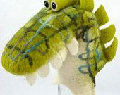 Fun felted hand puppet