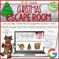 Christmas Escape Room-Christmas Activity Can you students help free Twinkie the Elf from the Toy Box? Happy holidays! Are you looking for a way to keep your students engaged the week before holiday break? Are your kids crazy because the holidays are coming or
